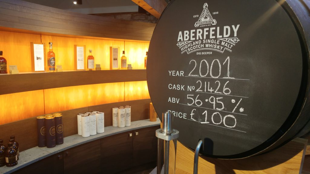 Self-fill Scotch Whisky Cask at Dewar's Aberfeldy Distillery