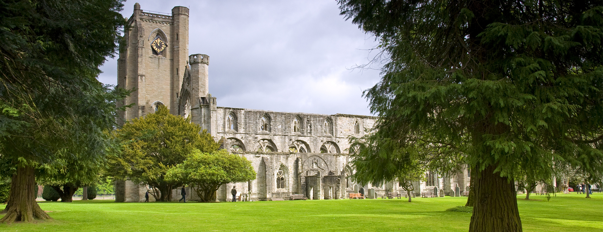 Dunkeld Cathedral & picturesque town in the Highlands of Scotland