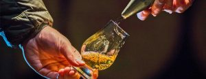 Cask tasting at Dewar's Aberfeldy Distillery