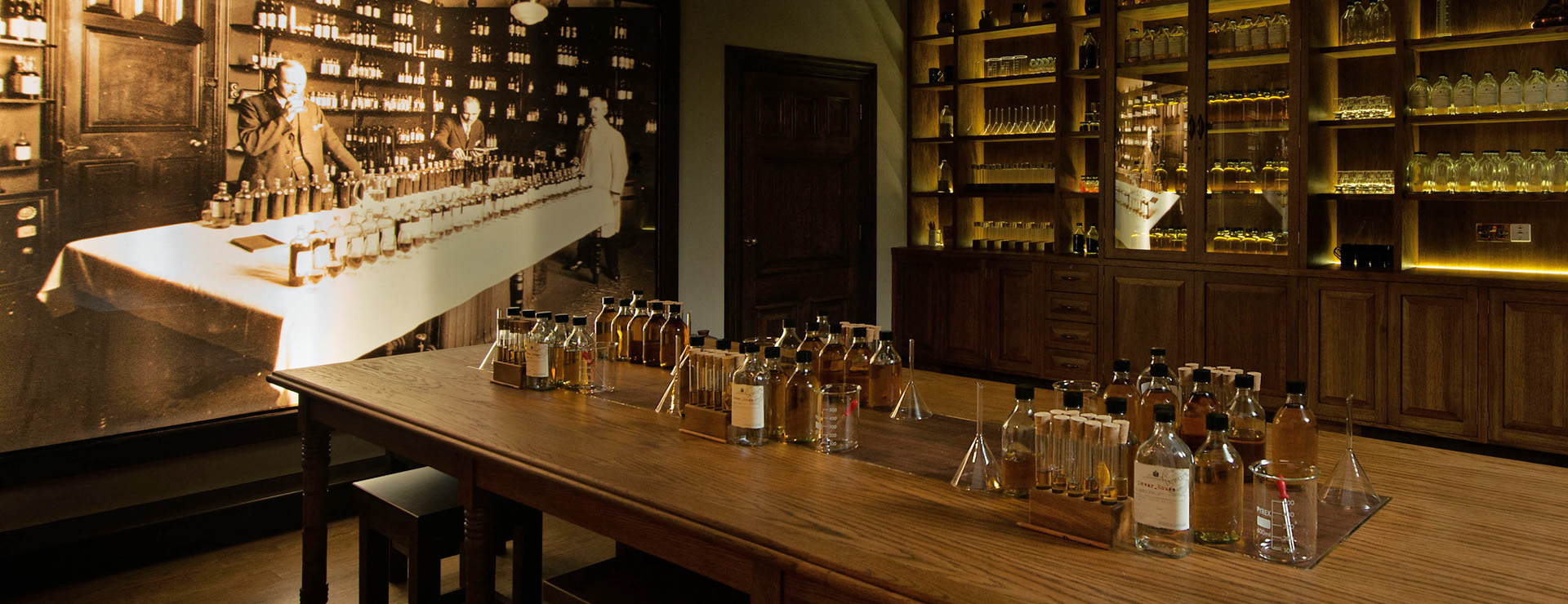 The Blending Room at Dewar's Aberfeldy Distillery - home to our whisky blending tour