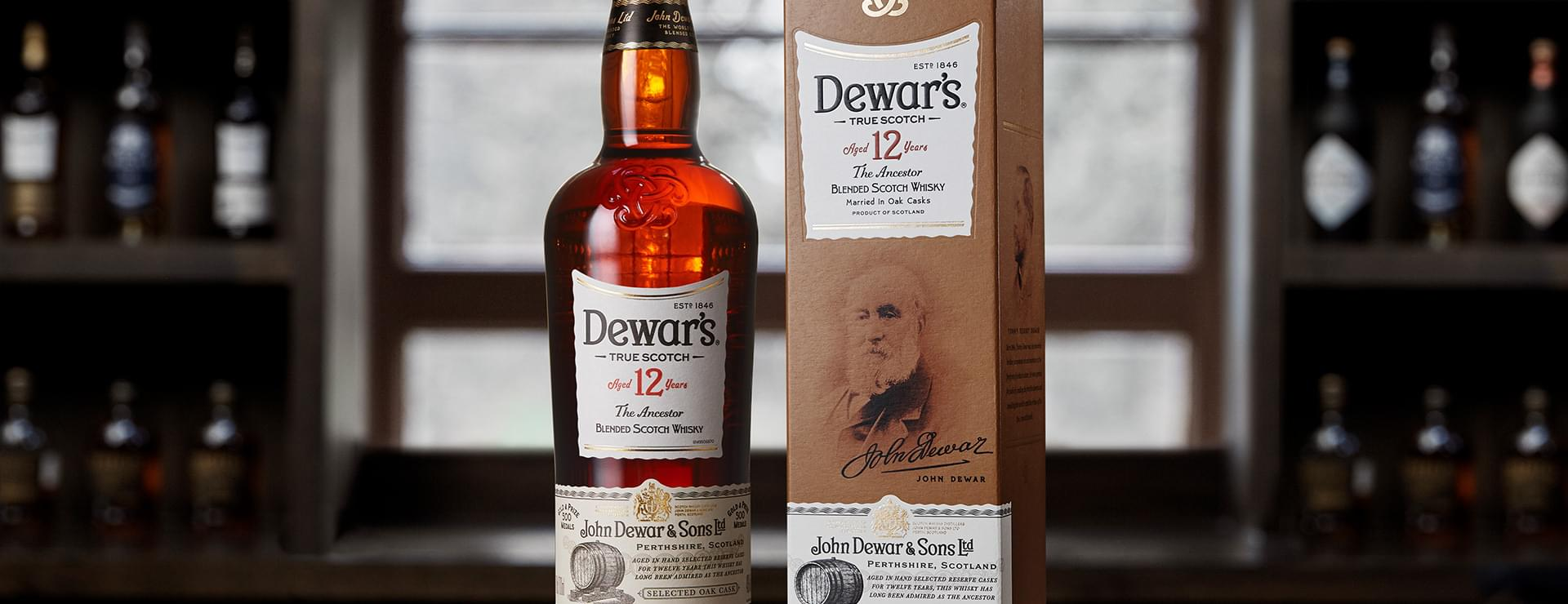 Dewar's 12 year old blended Scotch whisky at Dewar's Aberfeldy Distillery
