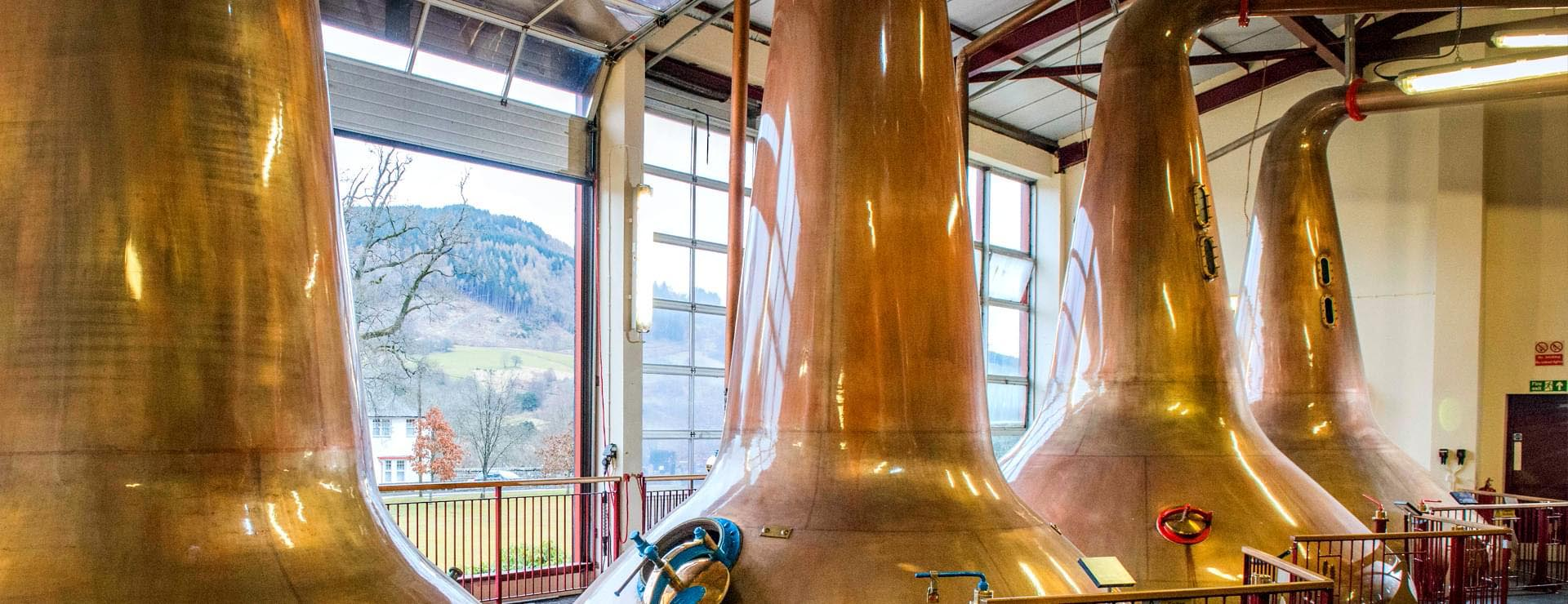 The Still Room where Aberfeldy single malt whisky, the heart of Dewar's blended Scotch, is distilled.