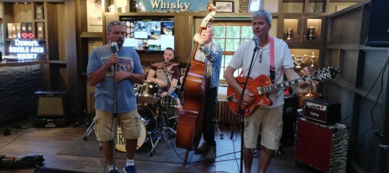 Band 'Trees Don't Travel' performing at Dewar's Aberfeldy Distillery