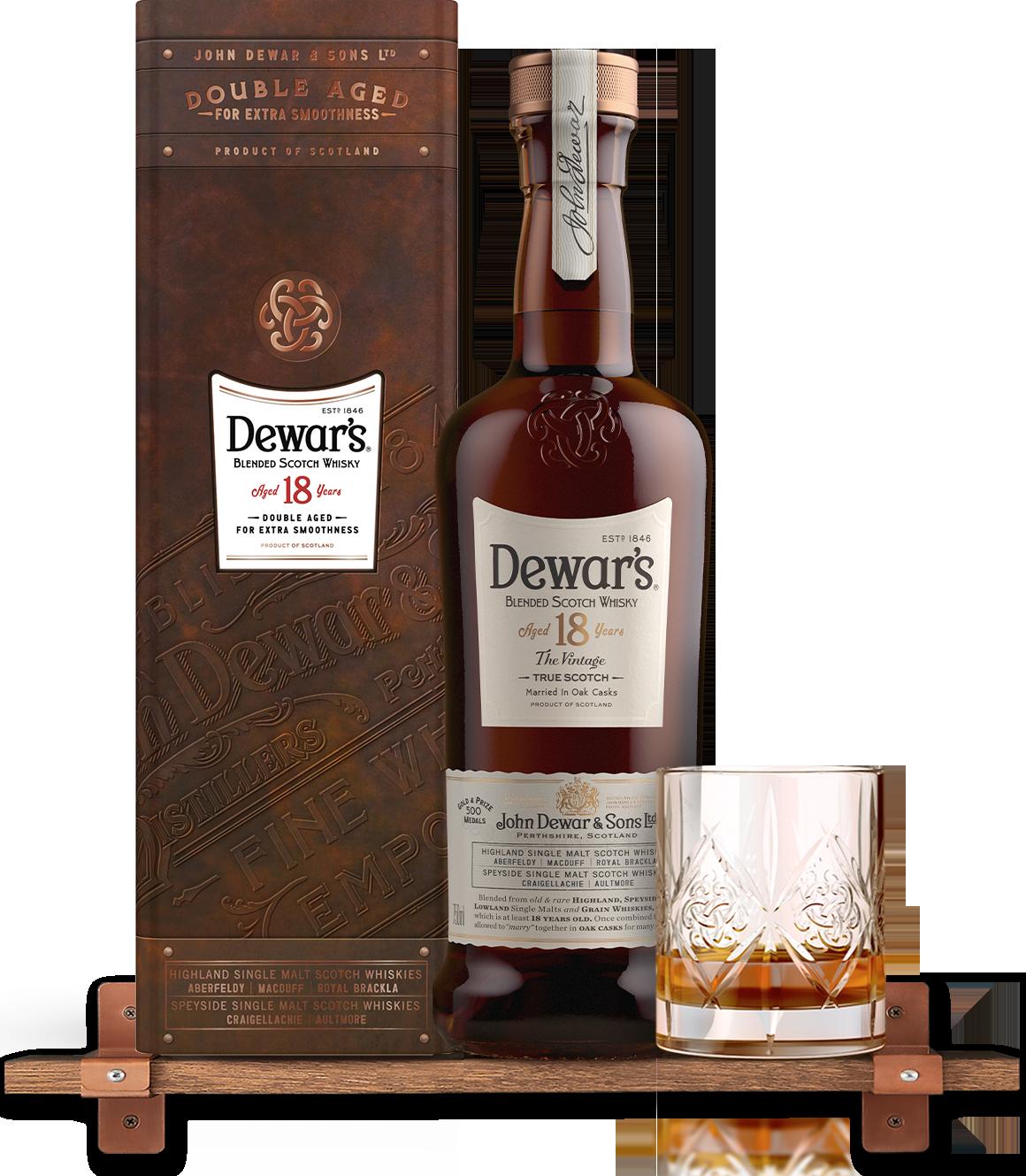 Dewars 18 Year Old Blended Whisky