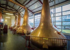 Image of stills in Dewar's Aberfeldy Distillery