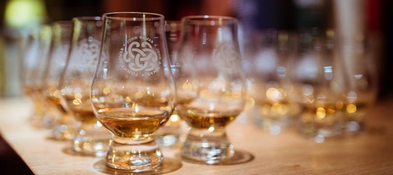 Image of tasting glasses of whisky