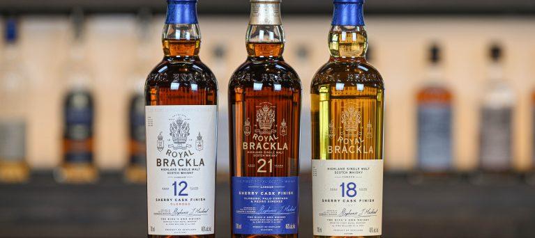 Photo of new Royal Brackla range including 12, 18 and 21