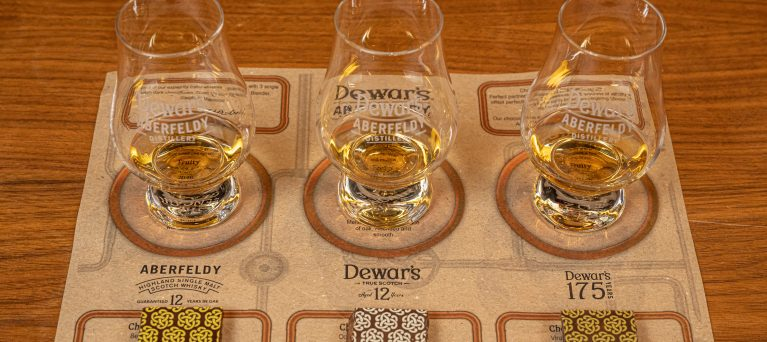 new whisky and chocolate tasting mat